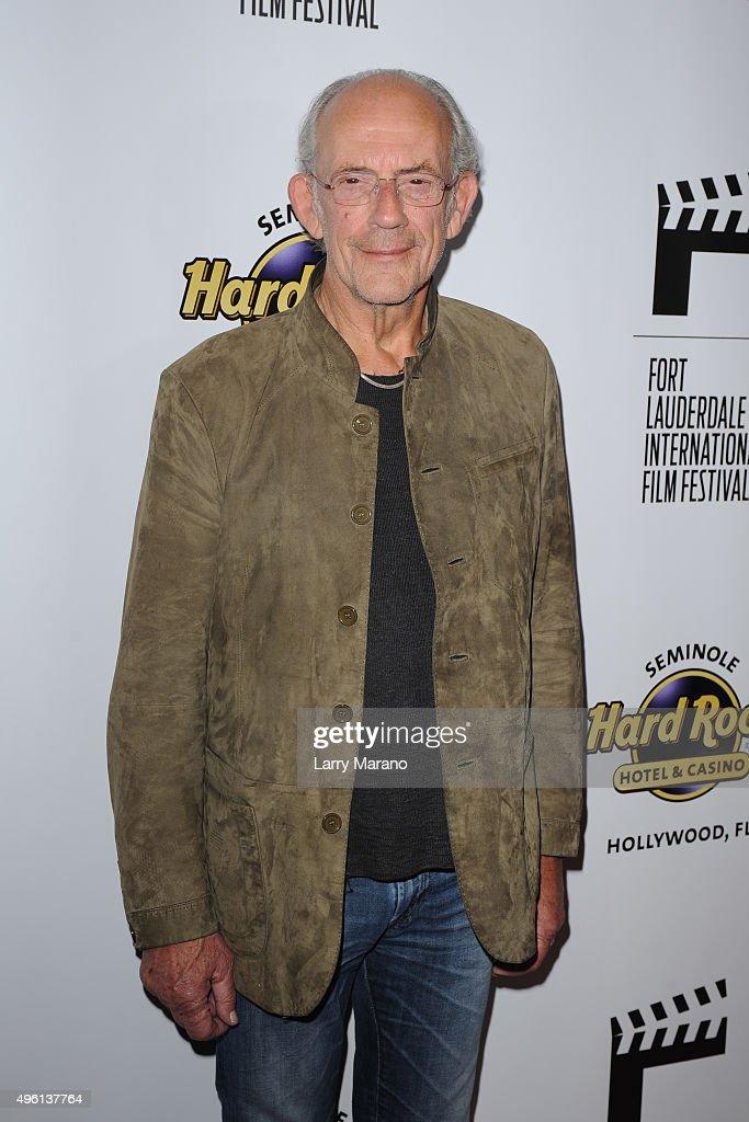 Christopher Lloyd attends the Fort Lauderdale International Film Festival - Opening Night at Seminole Hard Rock Hotel on November 6, 2015 in Hollywood, Florida.