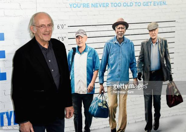 Christopher Lloyd attends the 'Going In Style' New York Premiere at SVA Theatre on March 30 2017 in New York City