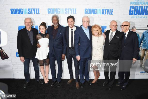 Christopher Lloyd Joey King Morgan Freeman director Zach Braff Michael Canie AnnMargret Alan Arkin and producer Donald De Line attend the 'Going In...