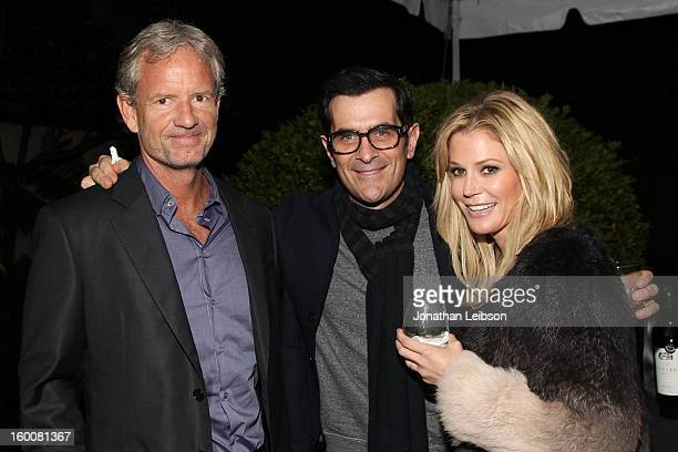 Christopher Lloyd Ty Burrell and Julie Bowen attend the Modern Family Pre SAG Dinner At Levi's Haus at Levi's Haus on January 25 2013 in Los Angeles...