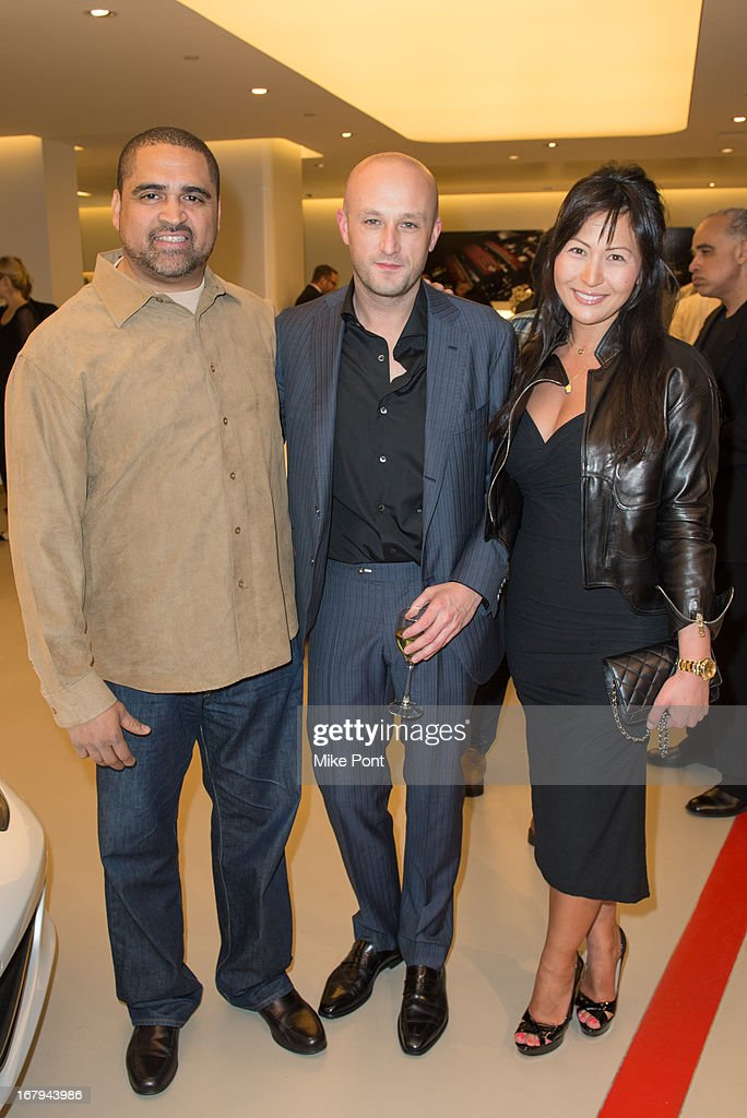 Christopher Lorenzo, Recording Artist Fabrizio Sotti and guest attend Fabrizio Sotti's 'Right Now' Album Listening Party at the Ferrari Corporate Showroom Of New York on May 2, 2013 in New York City.