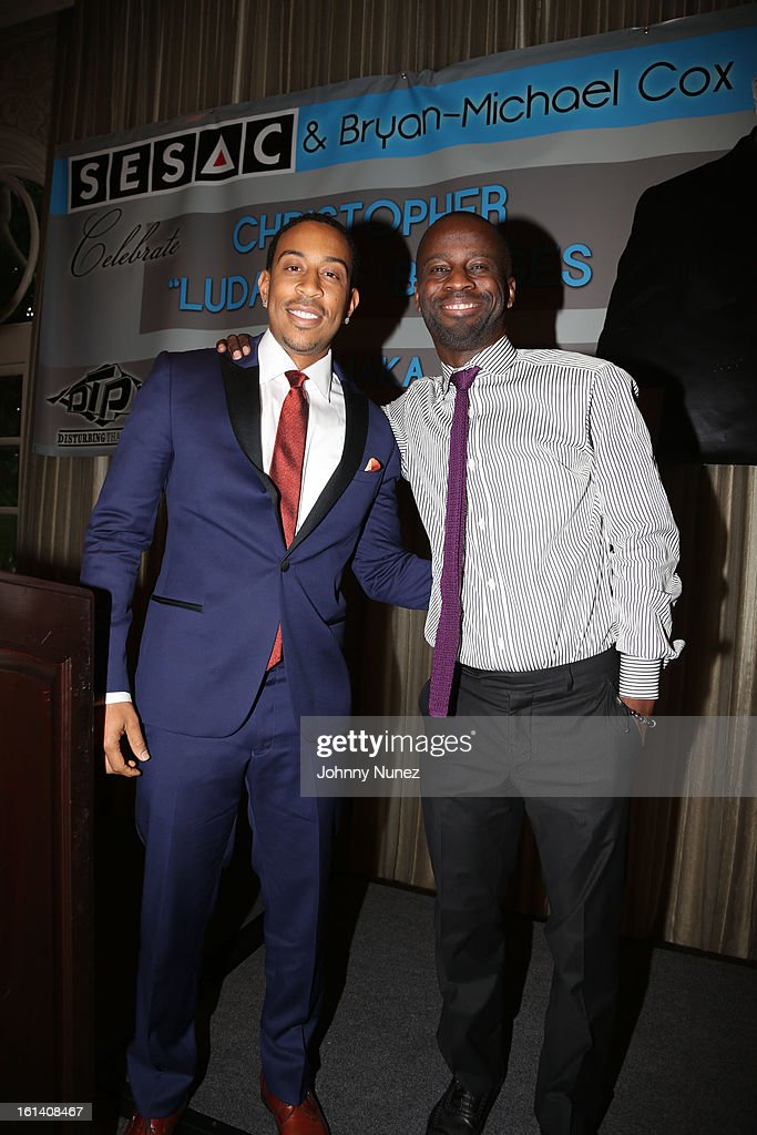 Christopher 'Ludacris' Bridges and <a gi-track='captionPersonalityLinkClicked' href=/galleries/search?phrase=Bryan-Michael+Cox&family=editorial&specificpeople=4147651 ng-click='$event.stopPropagation()'>Bryan-Michael Cox</a> attend The 9th Annual <a gi-track='captionPersonalityLinkClicked' href=/galleries/search?phrase=Bryan-Michael+Cox&family=editorial&specificpeople=4147651 ng-click='$event.stopPropagation()'>Bryan-Michael Cox</a>/SESAC Brunch Honoring Ludacris at Four Seasons Hotel Los Angeles at Beverly Hills on February 10, 2013 in Beverly Hills, California.