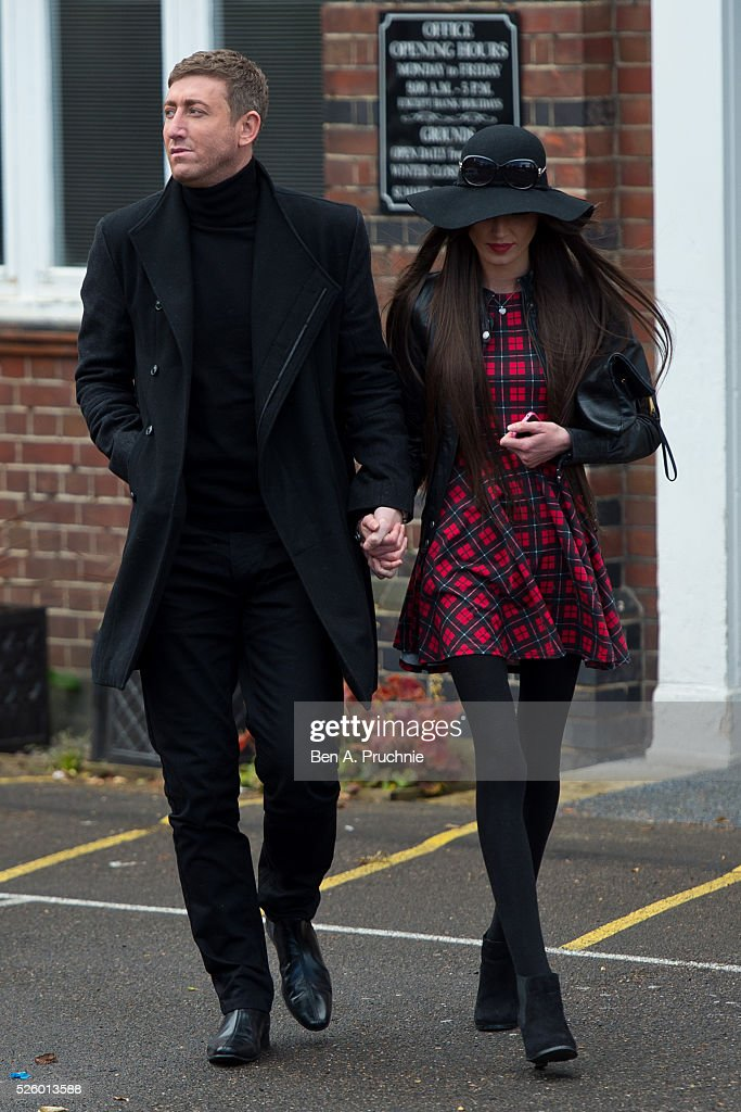 Christopher Maloney attends the funeral of entertainer, producer and reality television star David Gest at Golders Green Crematorium on April 29, 2016 in London, England.