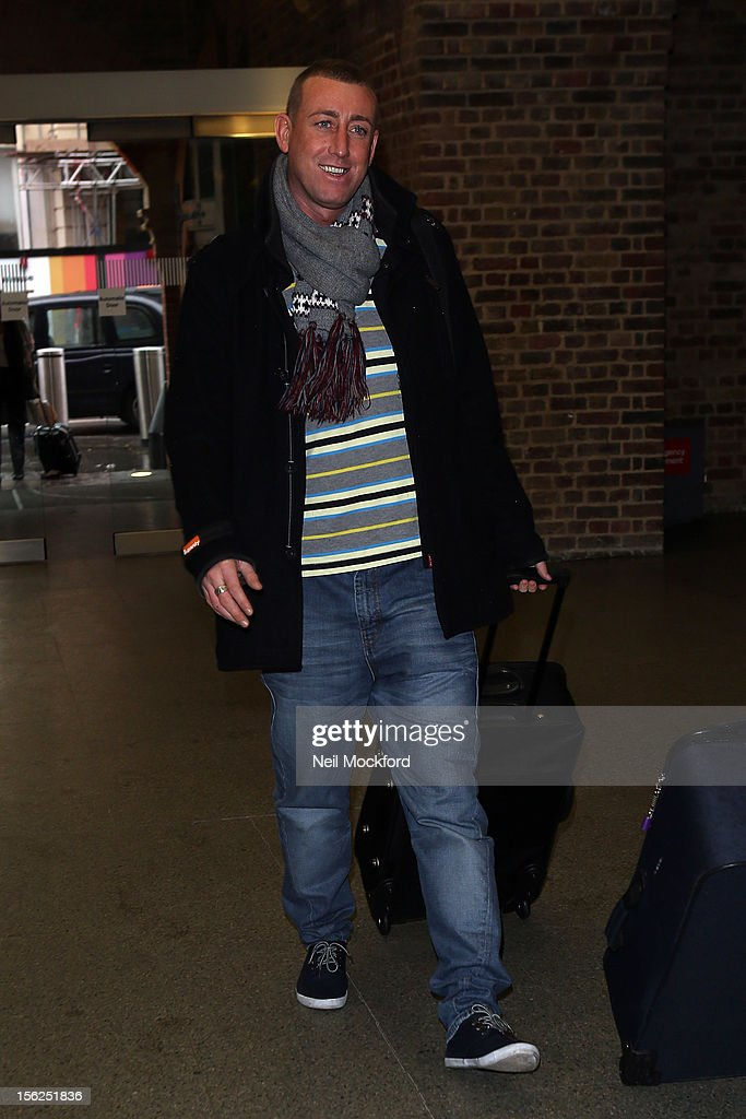 Christopher Maloney from X Factor 2012 seen at Kings Cross St Pancras Eurostar on November 12, 2012 in London, England.