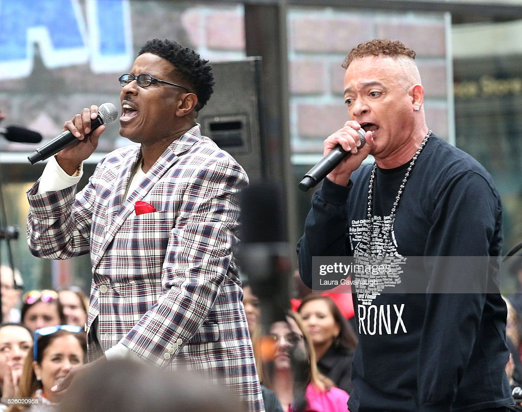 Christopher Martin and <a gi-track='captionPersonalityLinkClicked' href=/galleries/search?phrase=Christopher+Reid&family=editorial&specificpeople=779236 ng-click='$event.stopPropagation()'>Christopher Reid</a> of Kid 'n Play perform on NBC's 'Today' at Rockefeller Plaza on April 29, 2016 in New York City.