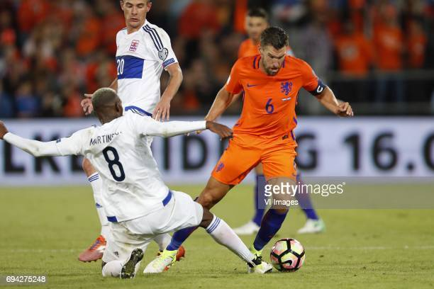 Christopher Martins of Luxembourg Kevin Strootman of Hollandduring the FIFA World Cup 2018 qualifying match between The Netherlands and Luxembourg at...