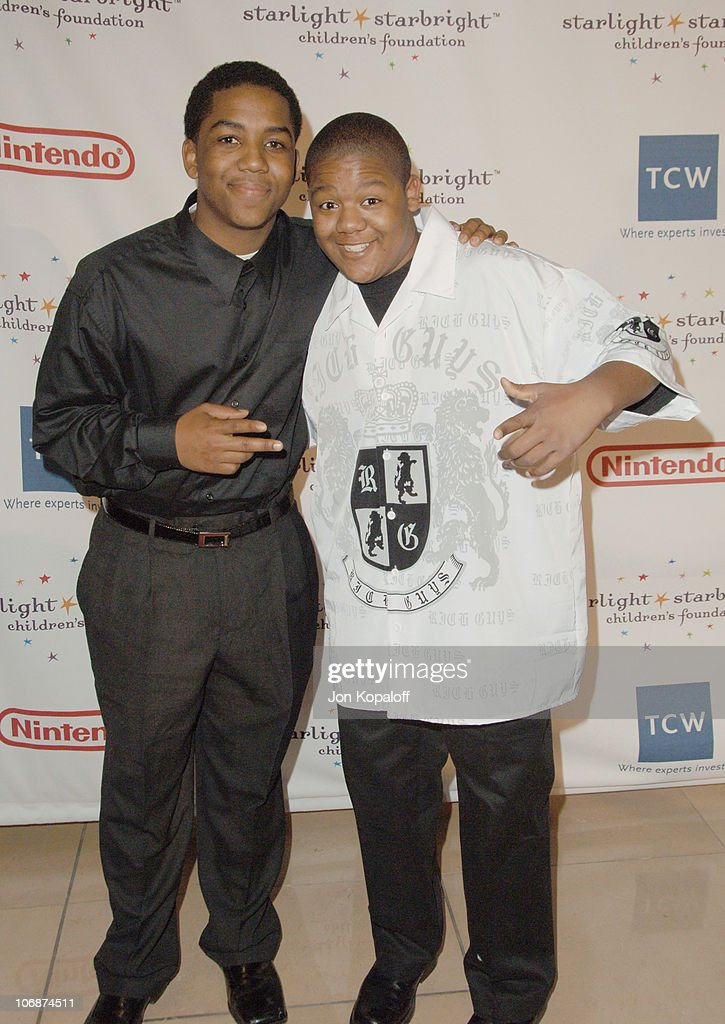 Christopher Massey and brother Kyle Massey during Starlight Starbright Children's Foundation Honors Dakota Fanning at A Stellar Night Gala Arrivals...