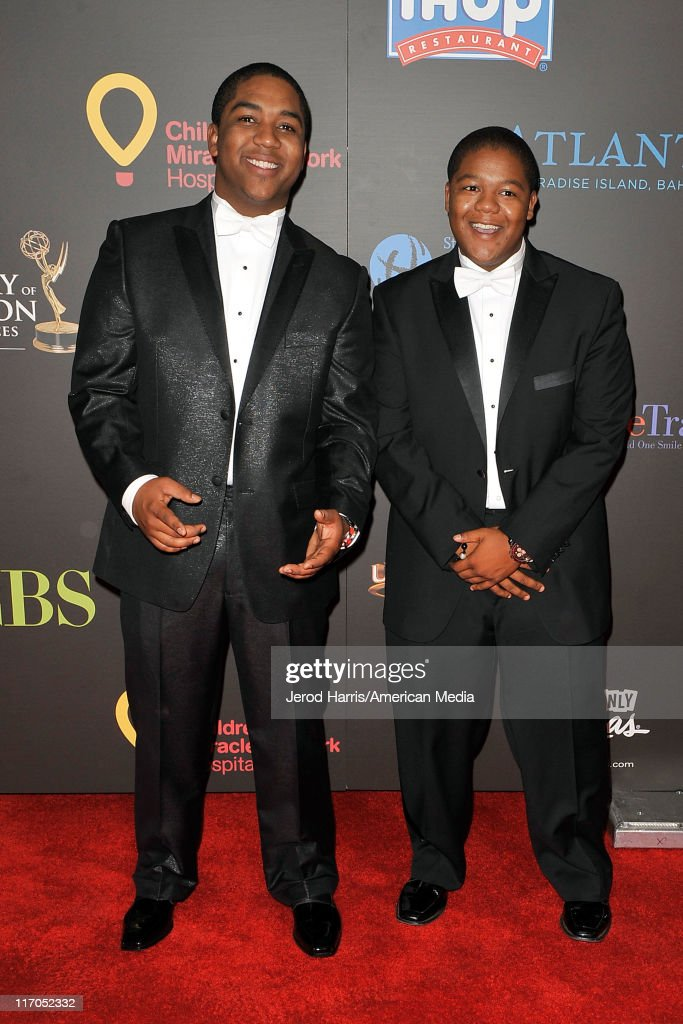 Christopher Massey (L) and <a gi-track='captionPersonalityLinkClicked' href=/galleries/search?phrase=Kyle+Massey+-+Actor+-+Born+1991&family=editorial&specificpeople=540280 ng-click='$event.stopPropagation()'>Kyle Massey</a> arrive at 38th Annual Daytime Entertainment Emmy Awards For Soap Opera Weekly on June 19, 2011 in Las Vegas, Nevada.