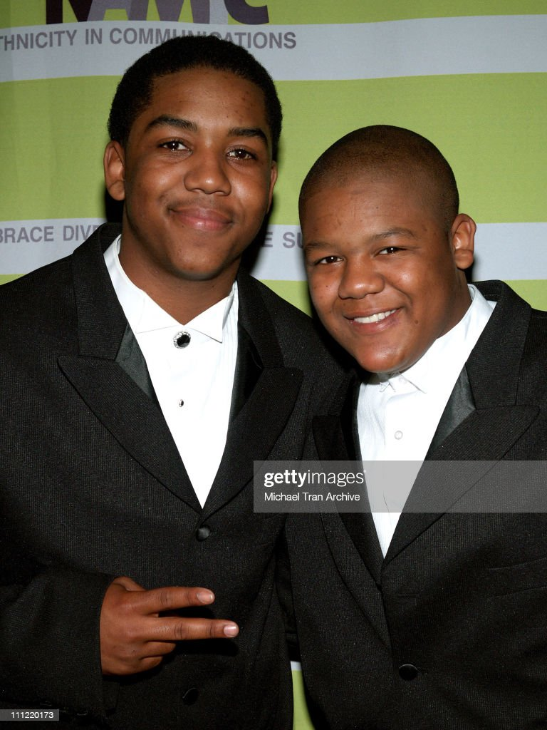 Christopher Massey and Kyle Massey during 12th Annual NAMIC Vision Awards Arrivals at Regent Beverly Wilshire in Beverly Hills California United...