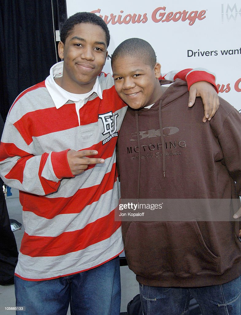 Christopher Massey and Kyle Massey during 'Curious George' Los Angeles Premiere Arrivals at ArcLight Cinemas in Hollywood California United States