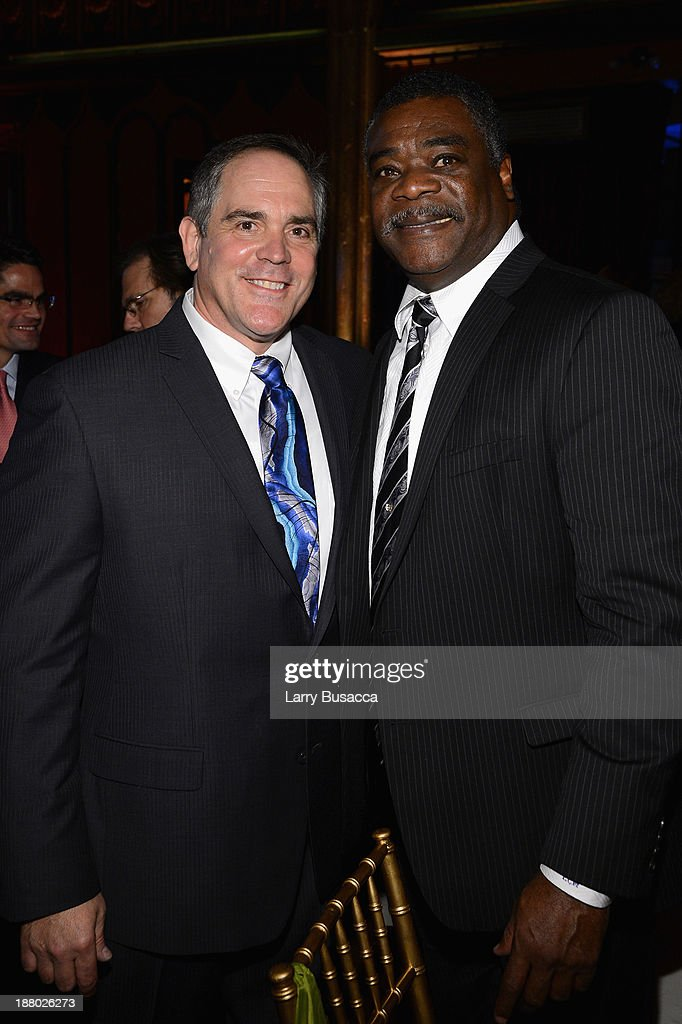 Christopher Mattioli (L) and Orioles Hall of Famer Eddie Murray attend T.J. Martell Foundation's Annual World Tour of Wine Dinner at The Angel Orensanz Foundation on November 14, 2013 in New York City.