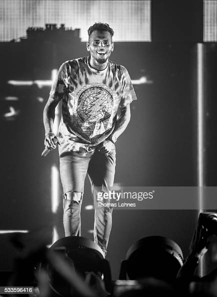 Christopher Maurice 'Chris' Brown performs with his tour 'One Hell Of A Night' tour at Festhalle Frankfurt on May 22 2016 in Frankfurt am Main Germany