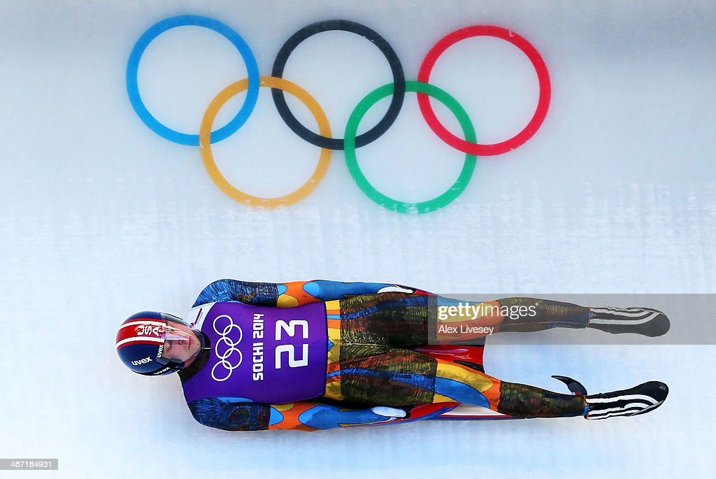 Christopher Mazdzer of the United States makes a run during the men's luge training session ahead of the Sochi 2014 Winter Olympics at the Sanki Sliding Center on February 6, 2014 in Sochi, Russia.