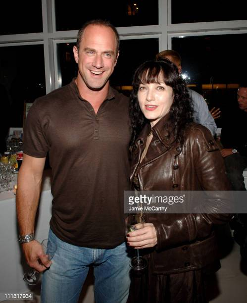 Christopher Meloni and Bebe Neuwirth during The Cinema Society Afterparty for 'All the King's Men' at The Riverhouse in New York City New York United...