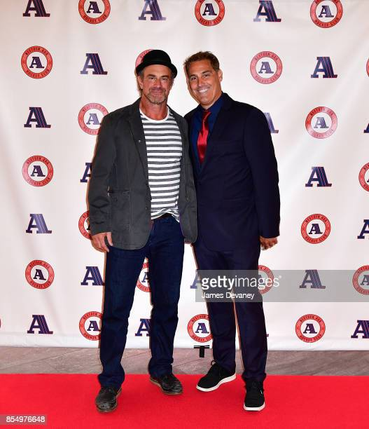 Christopher Meloni and Chris John attend NextGen AAA Foundation Launch Event at Chelsea Piers Sunset Terrace on September 27 2017 in New York City