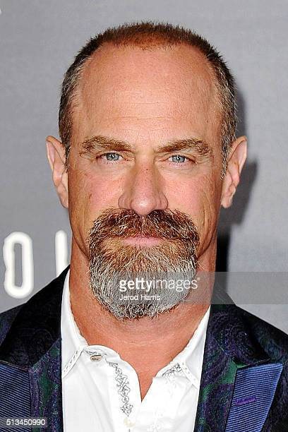 Christopher Meloni arrives at the Premiere of WGN America's 'Underground' at The Theatre at The Ace Hotel on March 2 2016 in Los Angeles California