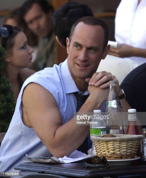Christopher Meloni is seen on the Streets of Manhattan on July 8 2009 in New York City