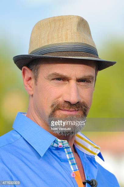 Christopher Meloni visits 'Extra' at Universal Studios Hollywood on March 6 2014 in Universal City California