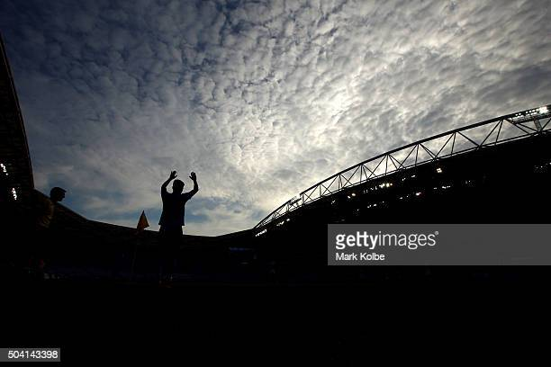 Christopher Naumoff of Sydney FC prepares to take a corner during the round 14 ALeague match between Sydney FC and the Newcastle Jets at ANZ Stadium...