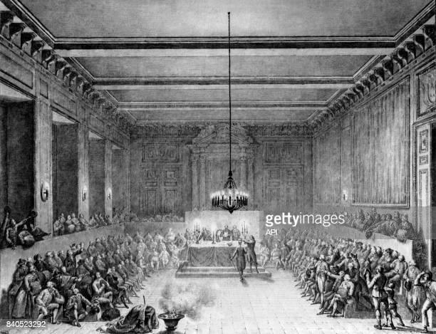 Christopher Nesham recevant l'épée et la couronne civique par la commune de Paris le 15 janvier 1790 France