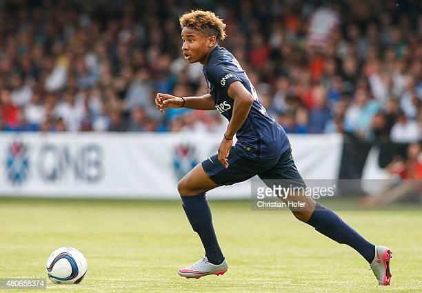 Christopher Nkunku of Paris SaintGermain controls the ball during the Friendly Match between Wiener Sportklub and Paris SaintGermain at Sportclub...