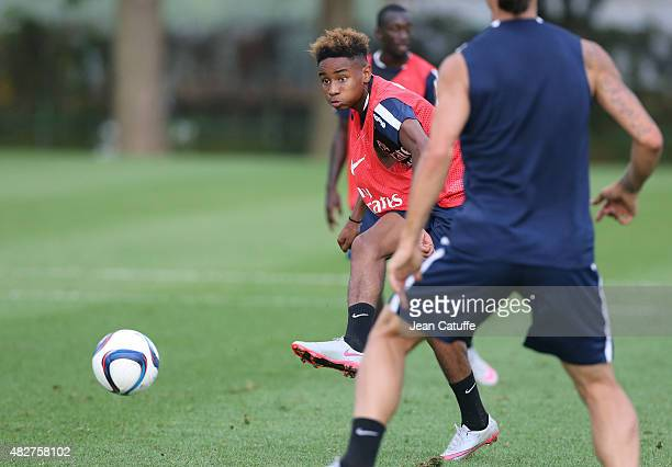 Christopher Nkunku of PSG in action during Paris SaintGermain training session at Stade Saputo on July 30 2015 in Montreal Quebec Canada