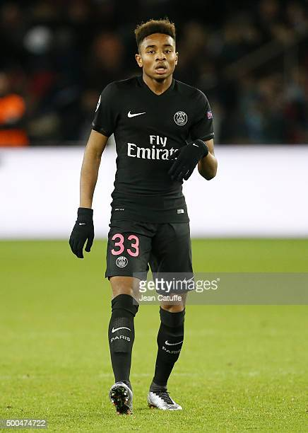 Christopher Nkunku of PSG in action during the UEFA Champions League match between Paris SaintGermain and FC Shakhtar Donetsk at Parc des Princes...