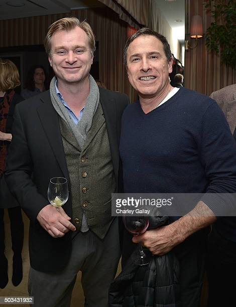 Christopher Nolan and David O Russell attend THE HATEFUL EIGHT Celebration With Quentin Tarantino And Filmmakers at Sunset Tower Hotel on January 4...