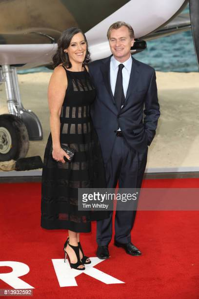 Christopher Nolan and Emma Thomas attend the 'Dunkirk' World Premiere at Odeon Leicester Square on July 13 2017 in London England