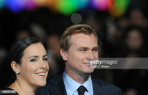 Christopher Nolan and Emma Thomas attend the European premiere of 'Interstellar' at Odeon Leicester Square on October 29 2014 in London England
