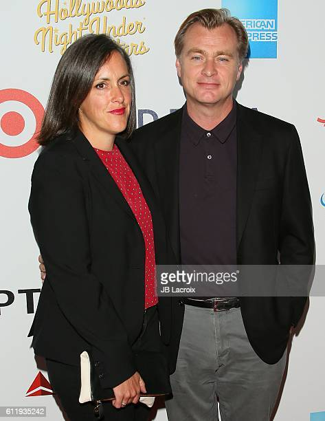 Christopher Nolan and Emma Thomas attend the MPTF 95th anniversary celebration with 'Hollywood's Night Under The Stars' at MPTF Wasserman Campus on...