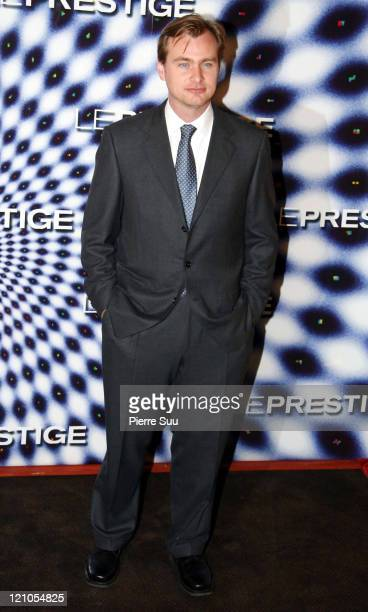 Christopher Nolan during 'The Prestige' Paris Premiere at Gaumont Marignan Theater in Paris France