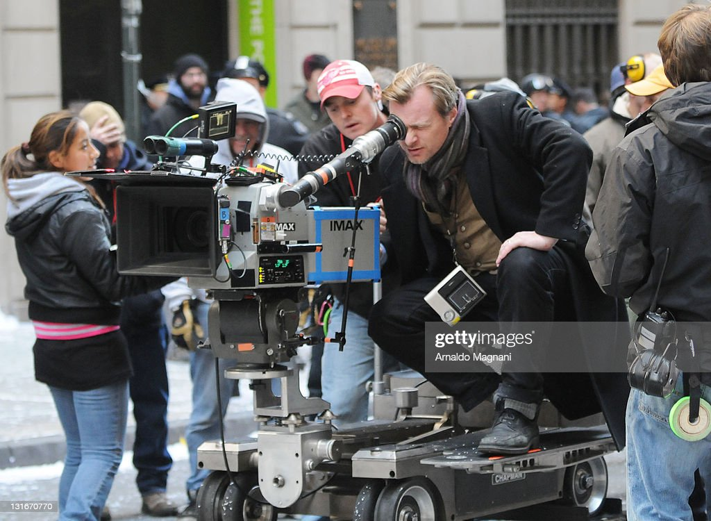 Christopher Nolan is seen on the set of 'The Dark Knight Rises' movie on November 6 2011 in New York City