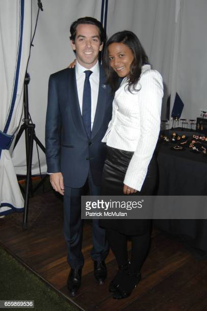 Christopher O'Ferrall and Alexia Uri attend Lorenz Baumer Private Dinner in Celebration of his Paris Fine Jewelry Collection at The London West...