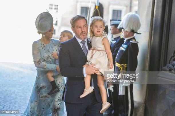 Christopher O'Neill and Princess Leonore of Sweden arrive for a thanksgiving service on the occasion of The Crown Princess Victoria of Sweden's 40th...