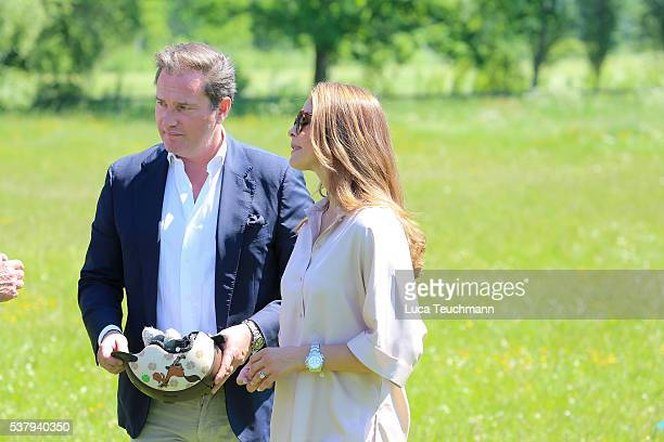 Christopher O'Neill and Princess Madeleine of Sweden are seen visiting the stables on June 3 2016 in Gotland Sweden Duchess Leonore will meet her...