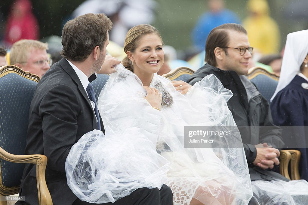 Christopher O'Neill and Princess Madeleine of Sweden attend a concert in Borgholm, to celebrate the 37th Birthday of Crown Princess Victoria of Sweden, on July 14, 2014 in Oland, Sweden.