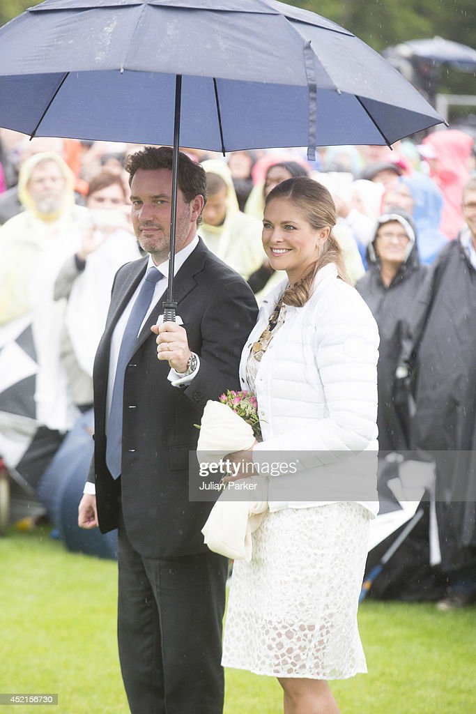 Christopher O'Neill and Princess Madeleine of Sweden attend a concert in Borgholm, to celebrate the 37th Birthday of Crown Princess Victoria of Sweden on July 14, 2014 in Oland, Sweden.