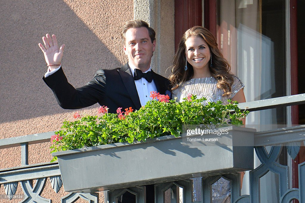 Christopher O'Neill and Princess Madeleine of Sweden attend s private dinner on the eve of the wedding of Princess Madeleine and Christopher O'Neill hosted by King Carl Gustaf and Queen Silvia at The Grand Hotel on June 7, 2013 in Stockholm, Sweden.
