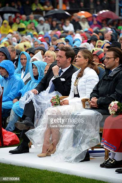 Christopher O'Neill and Princess Madeleine of Sweden attend the Victoria Day celebrations on the Crown Princess's 37th Birthday at Solliden on July...