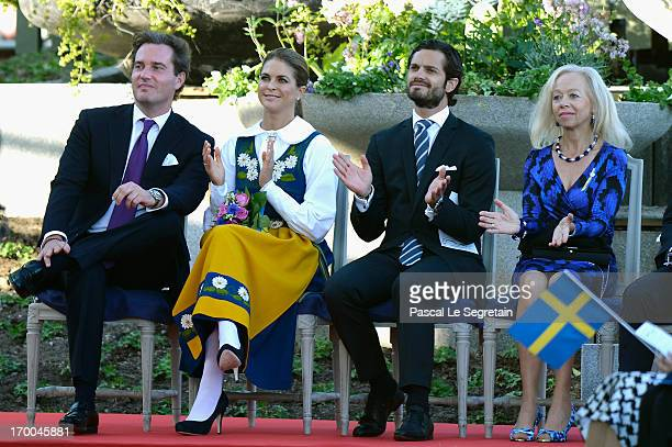 Christopher O'Neill Princess Madeleine of Sweden Prince Carl Philip of Sweden and Ylwa Söderberg attend the National Day Celebrations at Skansen on...