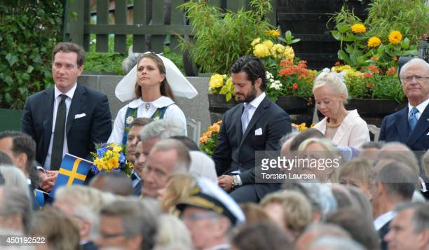 Christopher O'Neill Princess Madeleine of Sweden Prince Carl Philip of Sweden and King Carl Gustaf of Sweden attend the National Day Celebrations on...