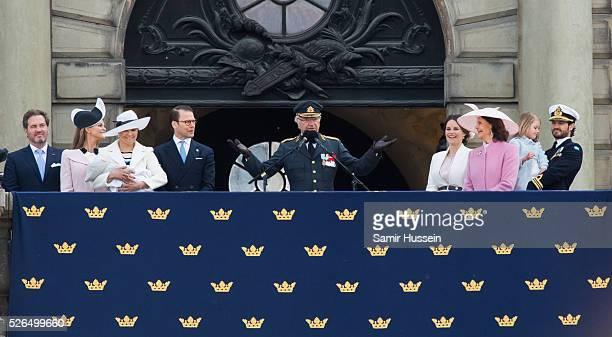 Christopher O'Neill Princess Madeleine of Sweden Prince Oscar of Sweden Crown Princess Victoria of Sweden Prince Daniel of Sweden King Carl Gustaf of...