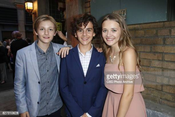 Christopher Paul Richards Jack Dylan Grazer and Reylynn Caster at the CBS Summer soirée held on August 1 2017 in Los Angeles CA