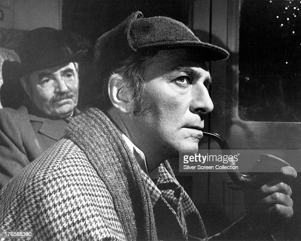 Christopher Plummer as Sherlock Holmes and James Mason as Dr Watson in 'Murder By Decree' directed by Bob Clark 1979