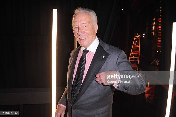 Christopher Plummer poses backstage at the 2016 Canadian Screen Awards at the Sony Centre for the Performing Arts on March 13 2016 in Toronto Canada