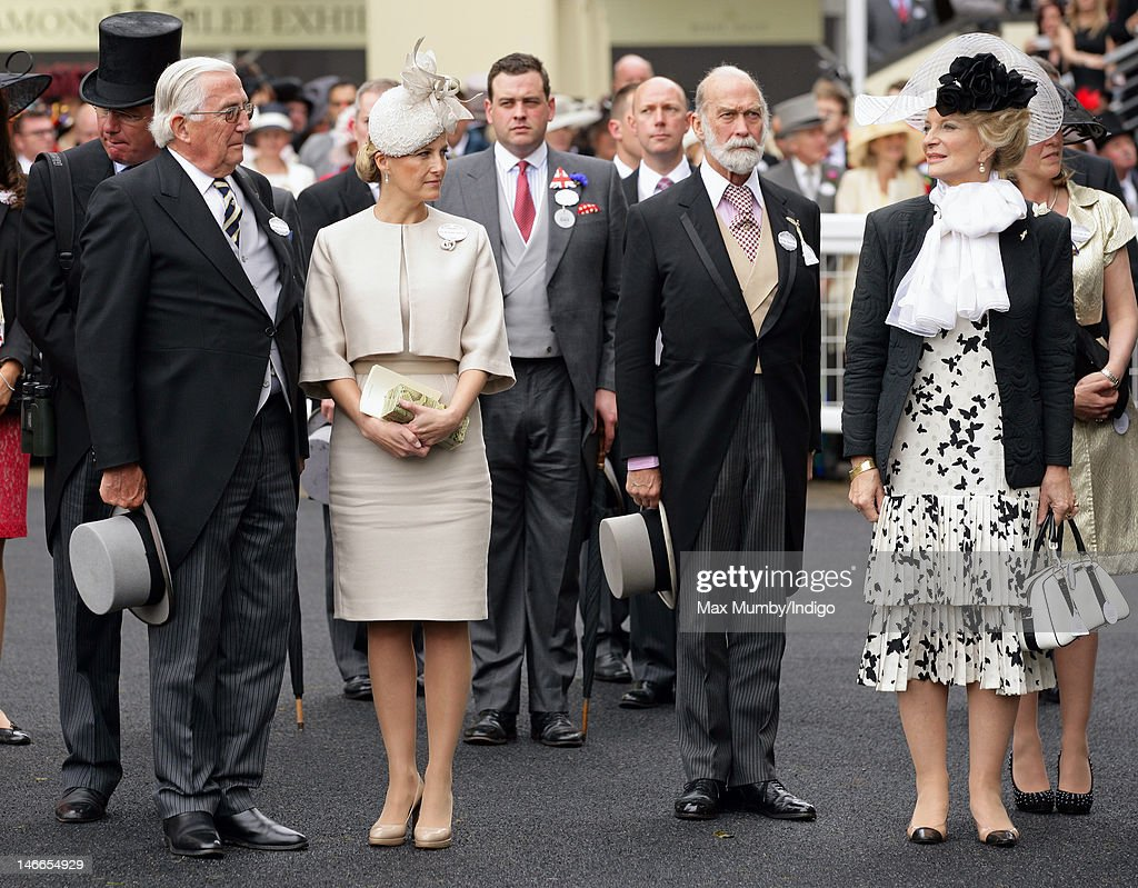 Christopher Rhys-Jones, Sophie, Countess of Wessex, Prince Michael of Kent and Princess Michael of Kent attend Ladies Day during Royal Ascot at Ascot Racecourse on June 21, 2012 in Ascot, England.