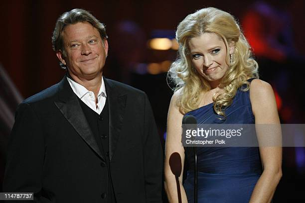 Christopher Rich and Melissa Peterman during CMT Giants Honoring Reba McEntire Show at Kodak Theater in Hollywood California United States