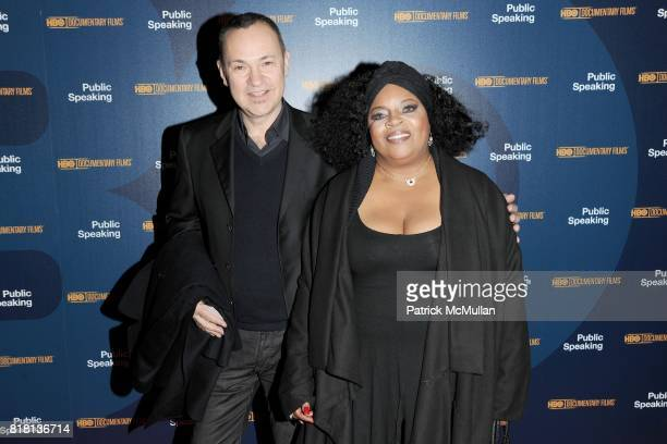Christopher Risko and Sarah Dash attend The HBO Documentary Films Premiere of PUBLIC SPEAKING Arrivals at MoMA on November 15 2010 in New York City