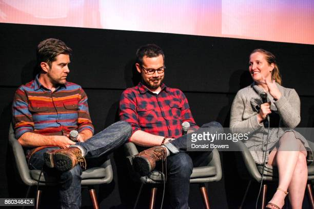 Christopher Rogers Christopher Cantwell and Melissa Bernstein attend The 'Halt And Catch Fire' Screening And Panel at IFC Center on October 11 2017...